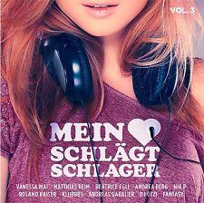 MEIN HERZ SCHLÄGT SCHLAGER,VOL.3  VANESSA MAI/ANDREA BERG/+ 2 CD NEUF