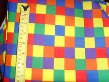 Bright colored primary squares geometric fabric material sewing novelty chic