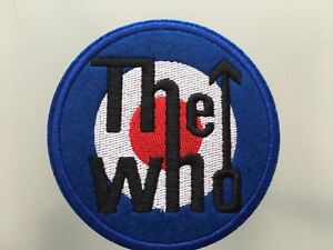 """THE WHO LOGO Patch - Embroidered Iron On Patch 3 """" - GRUNGE"""