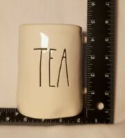 "RAE DUNN White ""TEA"" Coffee Tea Cup Cocoa Mug Artisan Collection By Magenta 16oz"