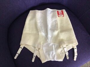 VTG Soft Skin Realform Panty Girdle Garters NOS Deadstock Large 29-30