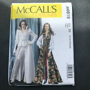 McCalls Sewing Pattern M6819 Size 14-22 Space Galactic Cyber Corset Coat Costume