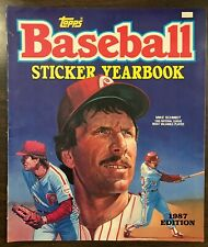 1987 Topps Baseball Sticker Yearbook Mike Schmidt Partially Complete