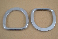 "D-Ring - 1 1/2"" - Stainless Steel - Flattened Ends - Pack of 4 (F120)"