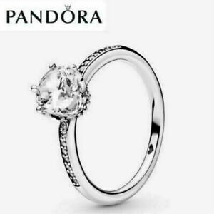 NEW S925 Genuine Sterling Silver Pandora Sparkling Family Ring & With Gift Box