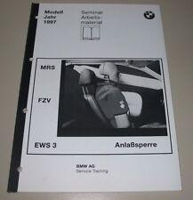 Schulungsunterlage BMW MRS FZV EWS 3 Anlaßsperre BMW Modell Jahr 1997!