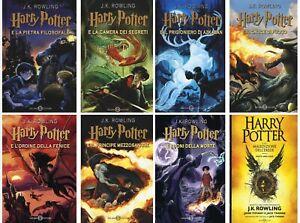 Libri Harry Potter Serie Completa dei Sette Volumi + la Maledizione dell' Erede