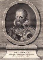 Portrait XVIIIe Maximilien II De Habsbourg Saint Empire Archiduc Autriche 1786