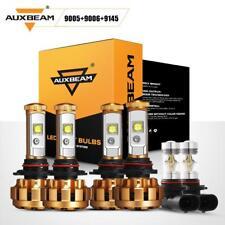 AUXBEAM 9005+9006 LED Headlight+9145 FogLight for Chevrolet Silverado 1500 03-06
