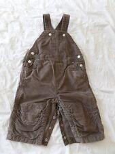 Baby Gap Boys Girls Unisex Brown Corduroy Cotton Bib Playsuit Size 6-12 Months