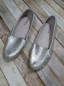 Sperry Top-Sider Georgia Loafers Shoes Size 10 M Gold Metallic Slip On