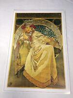 "Princess Hyacinth Alphonse Mucha Poster Print Reproduction Art Nouveau 17""x 12"""