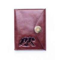 Bear Brown Leather Holder Cover Id Passport Document Premium Comfortable New