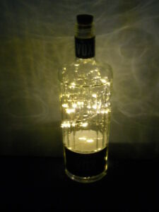 HANDMADE LIGHTED Vodka BOTTLE with USB Rechargeable LED Cork Light String