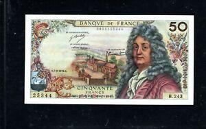 Billet 50 Francs Racine 07/02/74 SUP Fay 64-26