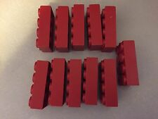 "LOT of 11 Jumbo RED LEGOS Vintage Blocks by Samsonite 2"" x 4"" x 1"" Large LEGO"