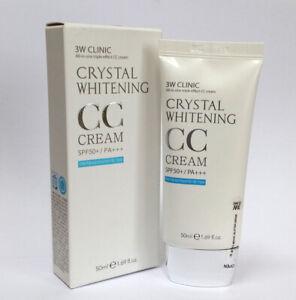[3W CLINIC] Crystal Whitening CC Cream 50ml SPF50 PA+++/Glitter & Natural Beige