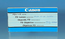 Canon FD objetiva instructions manual guía Mode d 'emploi - (25983)