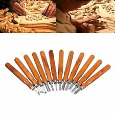 12Pcs kit Hand Woodworking Carving Chisels Tool Wood Working Professional Gouges