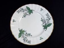 """Royal Worcester Valencia bone china bread plate white flowers gold rim 6.25"""""""