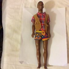 Vintage KEN DOLL 1968 Body 1991 Head AA  African American With Outfit barbie