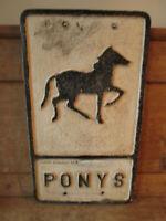 Ponys aluminum road sign. traffic sign.vintage sign.road sign.