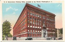 U.S. Government Printing Office in Washington DC Postcard