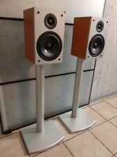 Teufel M 120 D Dipol Surround-Back Lautsprecher mit Ständern in Kirsche