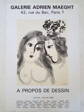 Marc Chagall 1956 affiche. Galerie Adrien Maeght  .Prints imprimerie arte