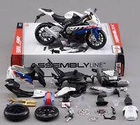 Maisto 1:12 BMW S1000RR Assembly line kit Motorcycle Bike Model New