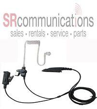 Police 2 Wire Headset W/PTT for Motorola HT750 HT1250 HT1250LS MTX8250 MTX9250