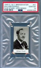 1940 CT Bridgewater Film Card #41 WILLIAM POWELL Actor THE THIN MAN Gem  PSA 10