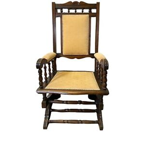 Antique Edwardian American Style Mahogany Rocking Chair
