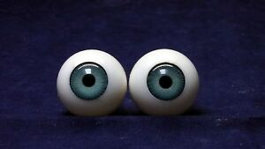 "Pair of doll plastic eyes, blue, eye size 1.02"" / 26 mm, doll making & repair"