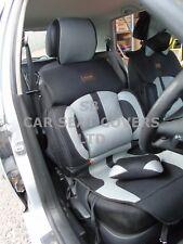 I - adapté à PEUGEOT 307, Housses de siège auto, bo-1 gris sport treillis