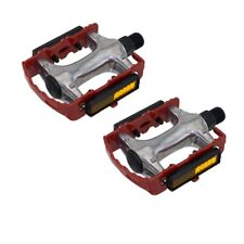 "940 Alloy Pedals 9/16"" Red Bicycle Bike Road MTB Cruiser Fixie"
