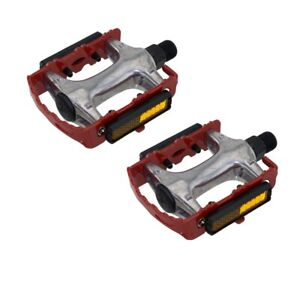 """940 Alloy Pedals 9/16"""" Red Bicycle Bike Road MTB Cruiser Fixie"""