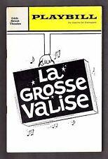 "Victor Spinetti ""LA GROSSE VALISE"" Harold Rome 1965 FLOP Premiere Playbill"