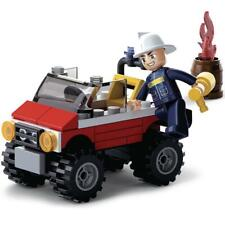 New Sluban Kids Fire Jeep Building Blocks 58 Pcs Building Toy Kids Fire Vehicle