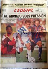 L'Equipe Journal 22/04/1992;  Tiozzo-Harding/ Boersch fait sauter Mancini/ OM
