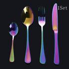 HOT !!! Stainless Steel Upscale Dinnerware Cutlery Fork Spoon Teaspoon Utensils