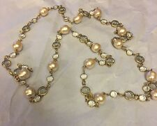 Chanel Stunning Vintage Authentic Pearl Crystal Necklace