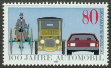 Germany 1986 MNH Mi 1268 Sc 1453 Benz Tricycle, Saloon Car & Modern automobile**