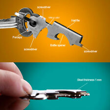 Portable Smart Tech Key 8 in 1 Xt Tool Stainless Steel Keychain Ring Utilikey