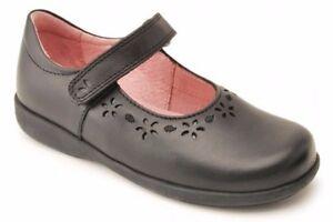 Start-rite Emily Girls Black School Shoe F Width