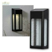LED Solar Wall Light with Dusk Sensor, Design With Real Glass Wall Lamp 11lm