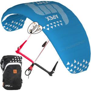 HQ4 Apex 8M Depower Foil Kite w HQ One Control Bar & Lines Kiteboarding Snow