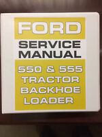 Ford 550 555 Tractor Backhoe Loader Service Manual Overhaul Exploded Diagrams