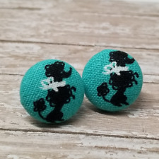 Poodle Fabric Stud Earrings