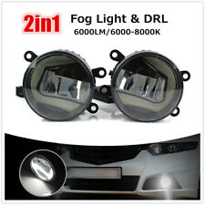 2IN1 Bumper Driving Fog Lights Lamps Day Time Driving Light DRL For Acura/Ford